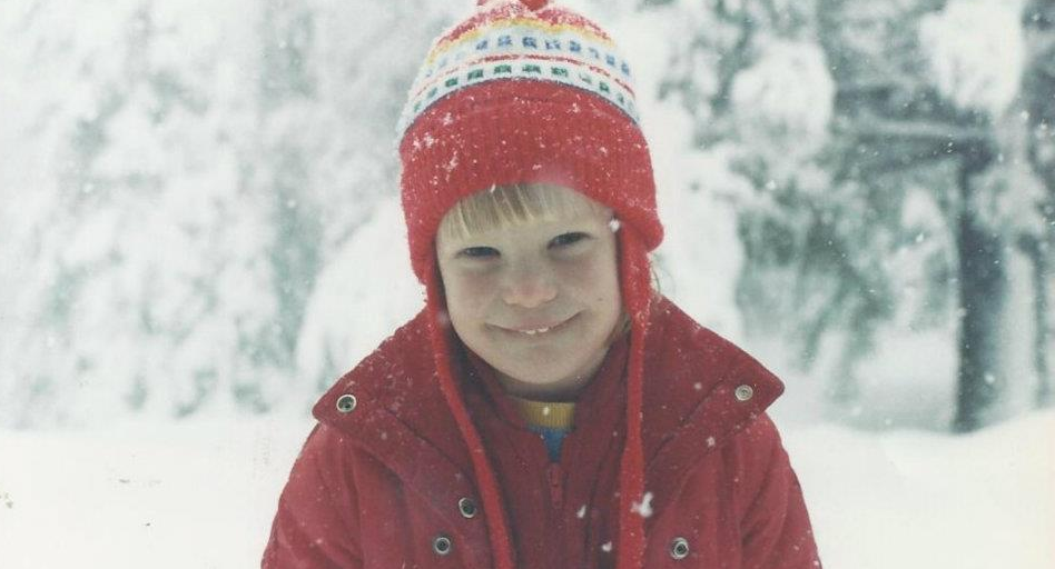 Chelsea growing up in the snow